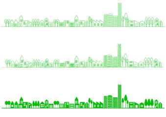 緑の街並み