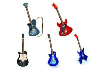 electric guitars set