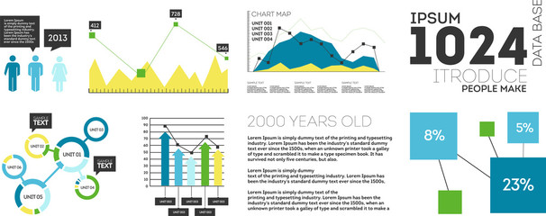 Vector Set elements of infographics