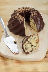 Marmorkuchen mit Schokoladenüberzug