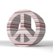 3d render of a geometric peace symbol  with stylish 3d lines