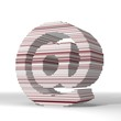 3d graphic of a digital email icon  with stylish 3d lines
