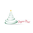 Sapin -Joyeux Noël-couleur