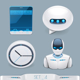 futuristic multimedia devices and technology icon-set 4