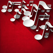 Music Note Background - Red Velvet - 58099788