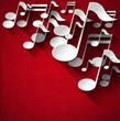 Music Note Background - Red Velvet - 58099788