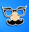 Постер, плакат: Mustache glasses eyebrows