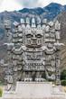 Wiracocha statue in Calca  the peruvian Andes on Cuzco Peru