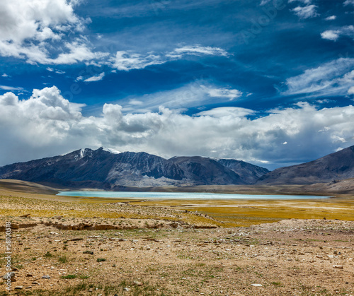 Himalayan lake Kyagar Tso, Ladakh, India