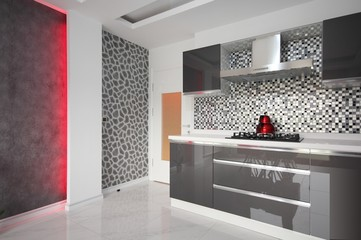 Concealed lighting at the kitchen