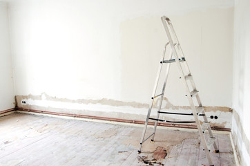 construction site ladder