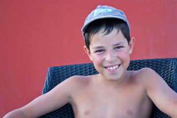 Sourire d'été (garçon 11-12 ans)