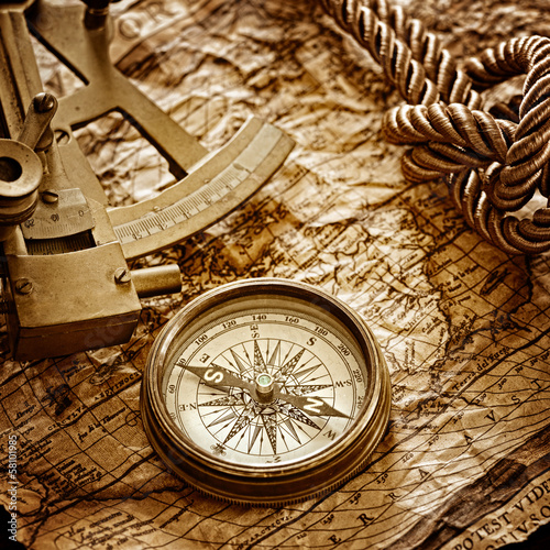 vintage marine still life - 58101985