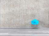 Fototapety Stuhl und Sichtbeton Wand