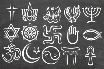 World Relgions Icons, symbols