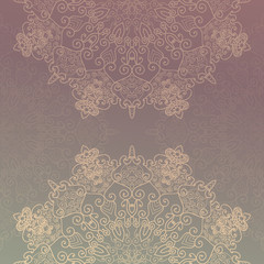 Abstract lace decoration , round shape