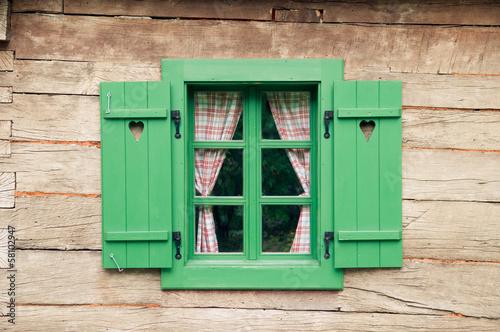 Leinwanddruck Bild Romantic log cabin