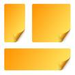 Sticker Set mit gebogener Ecke - gelb