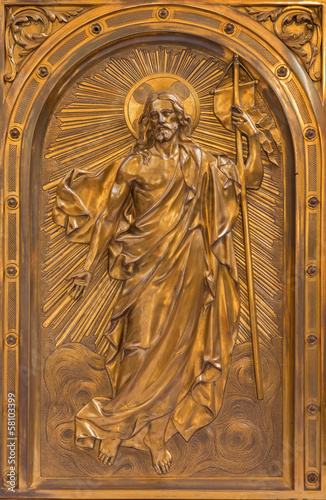 Antwerp - Relief of Resurrected Christ on the tabernacle