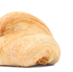 Close up of fresh croissant.