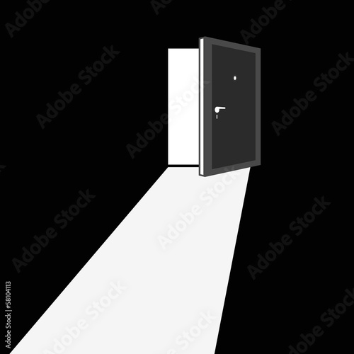 Open door illustration