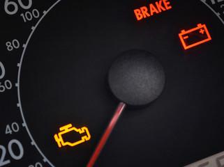 Malfunction and check engine car symbols