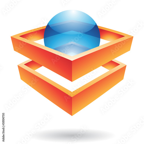 Crystal Ball and Fences Abstract Icon