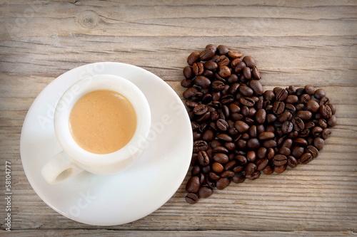 Canvas Cafe Espresso romantico