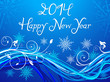 abstract blue based new year background