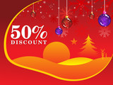 abstract fifty percent discount background