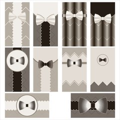 white tie cards