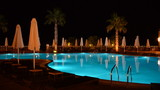 Swimming pool at the luxury hotel, Halkidiki, Greece