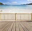 terrasse-balcon avec vue sur mer aux Seychelles