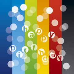 Abstract light Happy Birthday multicolor background