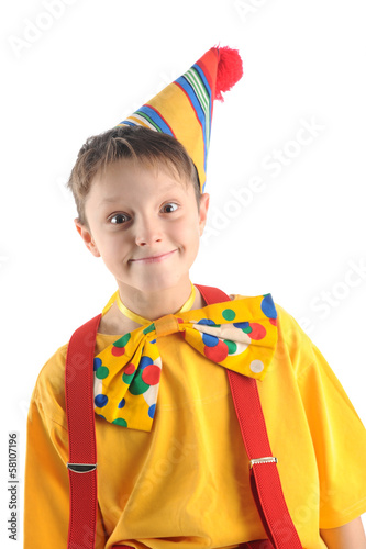 Hamming clown kid