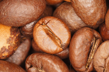 Kaffebohne rund