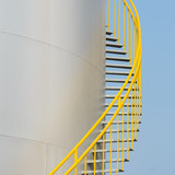 Ladder on storage tank
