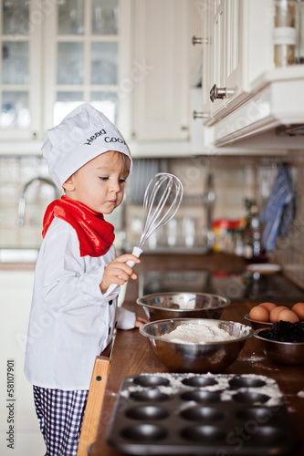 Boy, cooking