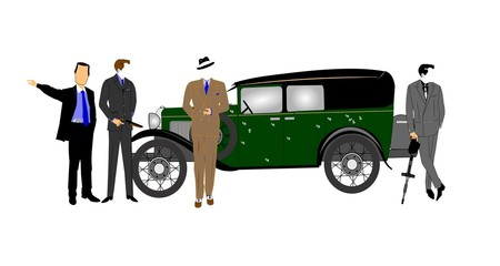 gangsters car concept from thirties