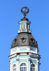 tower of Kunstkammer in  St. Petersburg