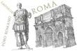 Roman emperor Augustus Caesar statue. Rome - 58111509