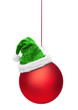 Weihnachtskugeln mit Nikolausmütze
