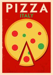 Vintage Pizza Design Poster