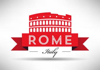 Colosseum Silhouette Banner Design