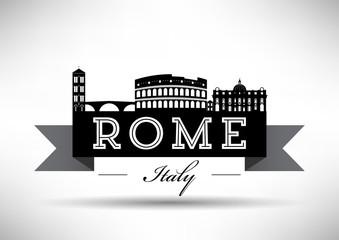 Rome Silhouette Banner Design