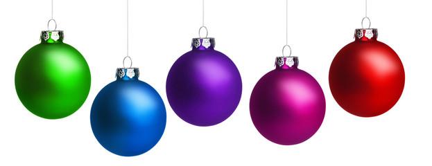 Fünf Bunte Weihnachtskugeln