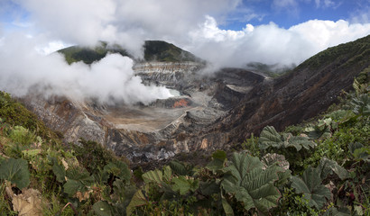 Poas volcano of Costa Rica in Central America