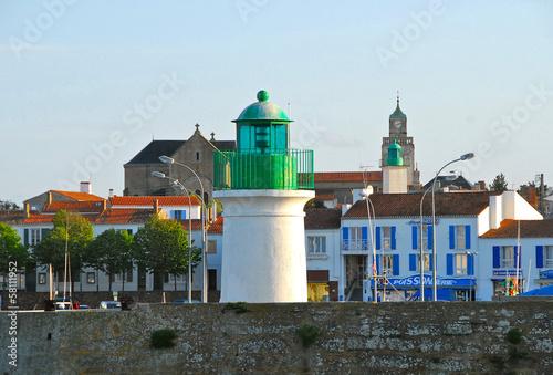 Papiers peints Phare les 2 phares de port joinville, île d'yeu