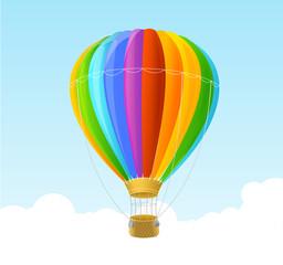 Vector rainbow air ballon background