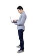 Asian businessman using a laptop